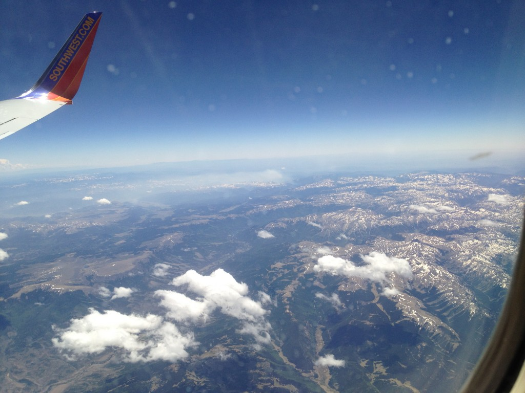 Flying over some Colorado Mountains