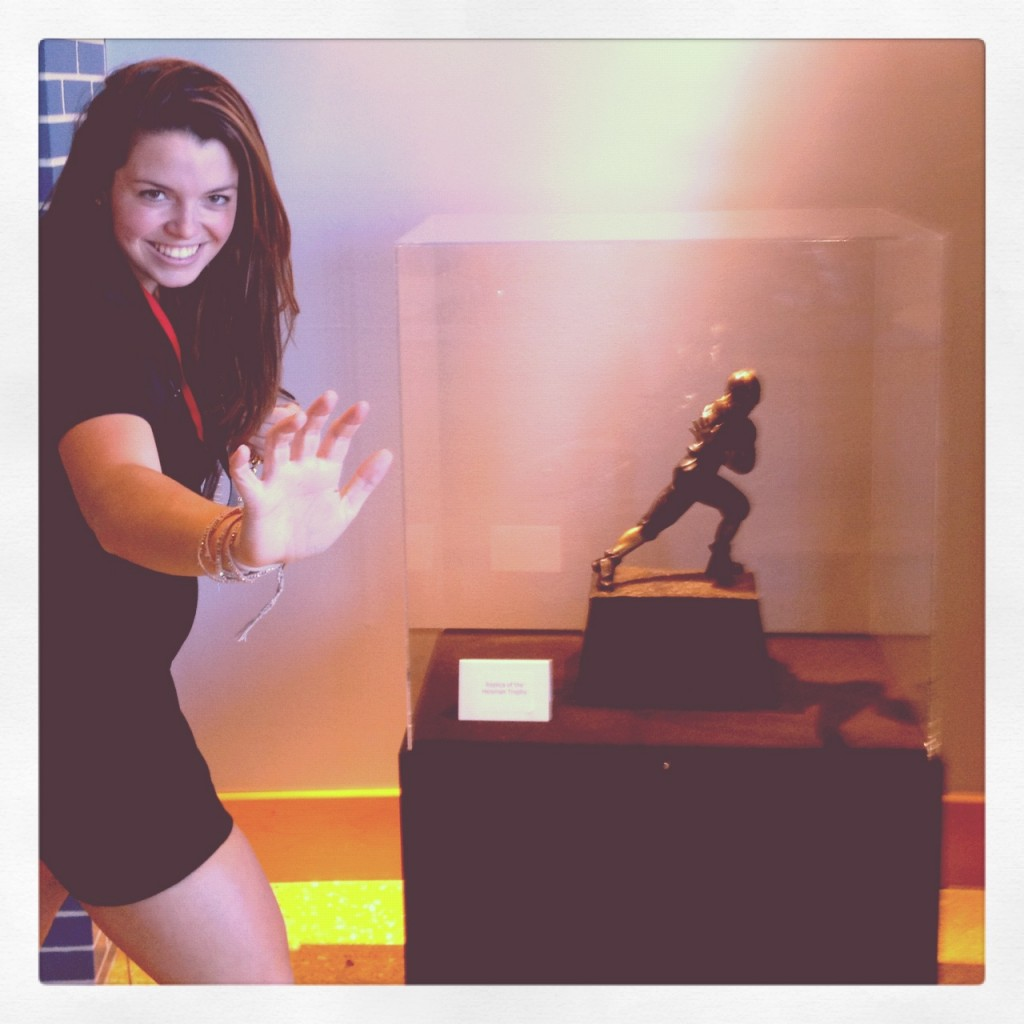 With My Heisman Trophy, Pose And All