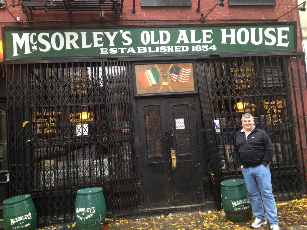 Dad at McSorleys Before It Closed