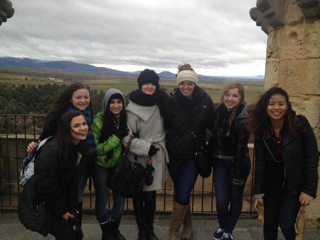 On top of El Alcazar in Segovia